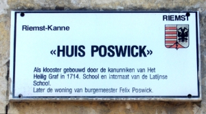 huis met geschreven huisnummer
